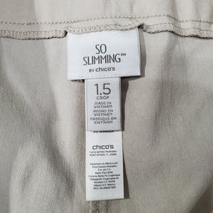 Chico's Pants - Chico's 1.5 so slimming crop stretch work pants